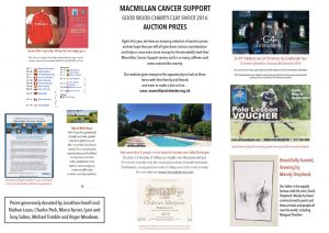 Macmillan Goodwood Clay Shoot 2016 - Auction Prizes