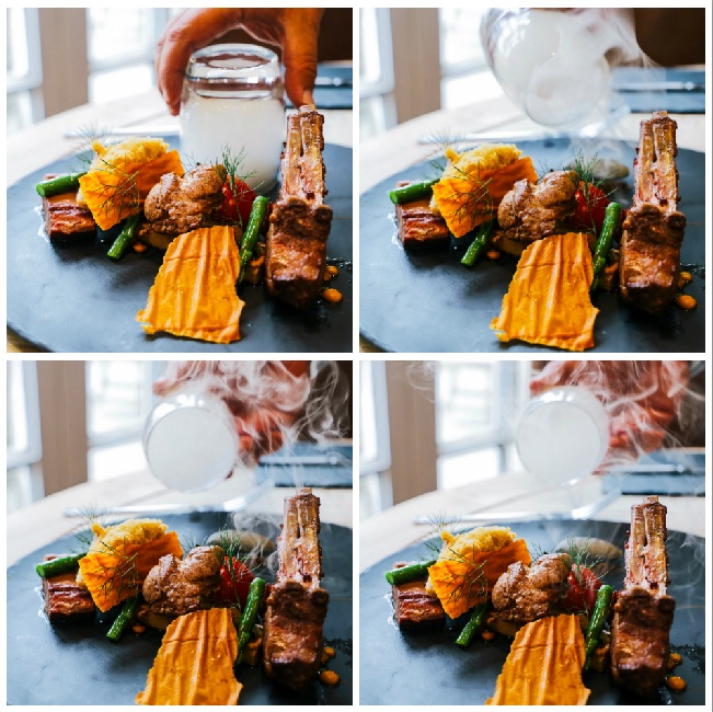 Lamb & Smoked Cheese Collage